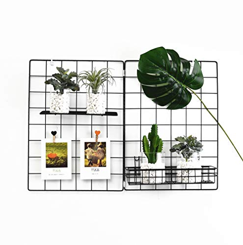 Wall Grid Panel, Grid Wall Photo Display Hanging, Foldable Office Wall Decor Iron Rack, Photograph Wall Mesh Organizer, Ins Art Display Picture Wall Hangers (Pack-1, 25.6 x 17.7 Inches) from us beipin