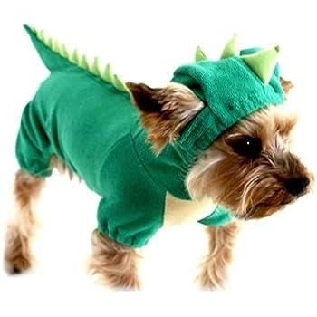 puppy dog dinosaur dragon costume hoodie jumpsuit jumper pet winter coat warm clothes xl
