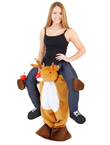 Christmas Piggyback Ride On Reindeer Costume (Plus) (Mens Costumes)