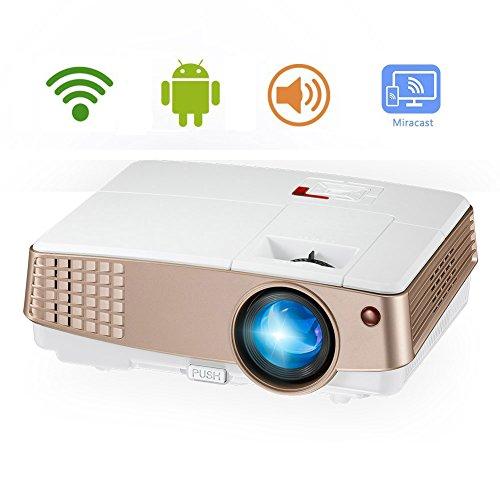 Portable WiFi Projector HD 1080P Support, Mini Home Theat...