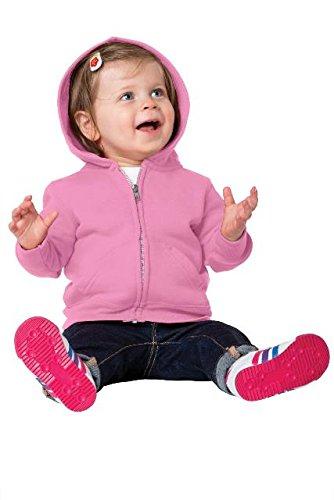 Pink Zip Hoodie Sweatshirt - 5