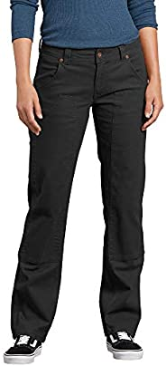 Dickies Womens Relaxed Straight Stretch Duck Double-Front Carpenter Pant Work Utility Pants