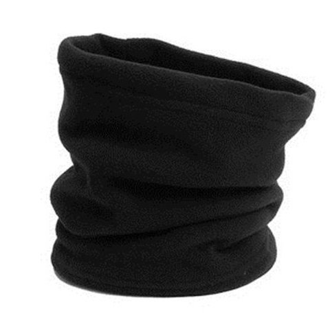 Neck Warmer Outdoor Fleece Scarf turtleneck collar men and women winter multifunctional headgear warm mask hat Black