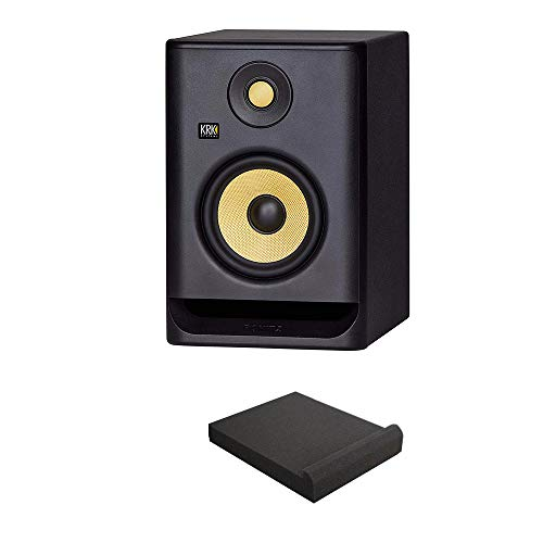 "KRK RP5 ROKIT 5 G4 Professional Bi-Amp 5"" Powered Studio Monitor with Free Isolation Pad Bundle"