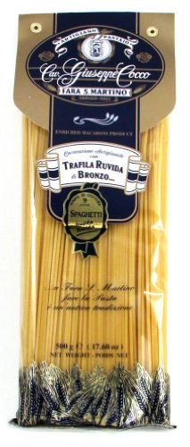 Giuseppe Cocco (4 pack) Spaghetti Artisan Pasta hand-made slow dried in 500g bags from - Usps Italy Shipping Rates To