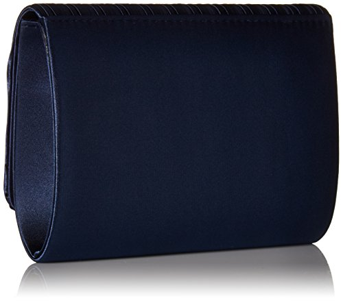 Pleated Flap Katie Flap Shoulder womens Clutch Navy Bag Pleated Jessica McClintock Evening Katie Evening Bag Shoulder Clutch pqFPTvw