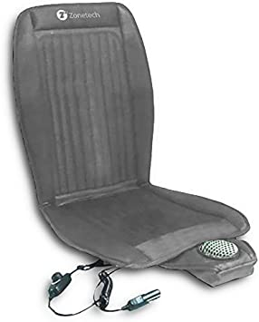 Zone Tech 2-in-1 Car Seat Cushion Black 12V Automotive All-Weather Adjustable Temperature Comfortable Cooling and Heating Car Seat Cushion Perfect for Road Trip