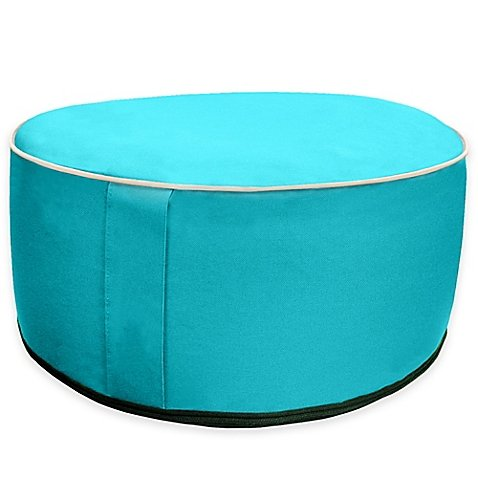 Splash 'n Dash Inflatable Pouf Ottoman in Blue
