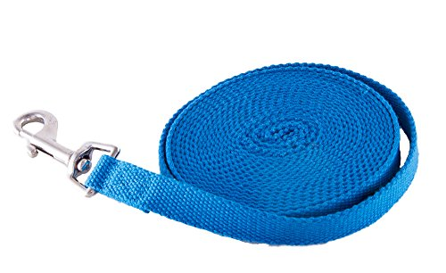UPC 758149756608, Long Training Obedience Agility Dog Puppy Lead Leash by Prime Pet Source - Blue 30 ft