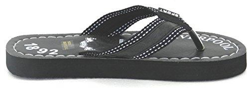 Mens Lumière Douce Poids Été Douche Plage Flip Flop Thong Intérieur Porte Pantoufles Sandales Noir