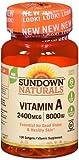Sundown Naturals Vitamin A 2400 mcg – 100 Softgels Review