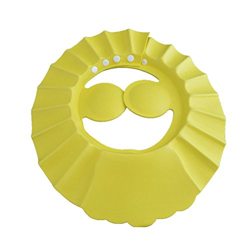 OUNONA Baby Shampoo Shower Cap Wash Hair Shield Hat Bathing Protect Eye Ear Cap (Yellow)