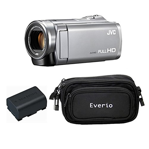JVCケンウッド Everio HDビデオカメラ GZ-E880-S シルバー 内蔵メモリー8GB 3点セット ( 本体 + 予備バッテリー + カメラバッグ )