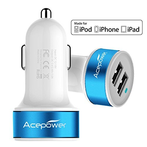 200 opinioni per [Certificato da Apple] ACEPower® Doppio USB Caricabatterie da auto (17W/3.4A- 2