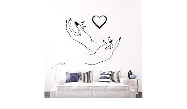 supmsds Nail Salon Sign Logo Wall Window Decal Sticker Nails ...
