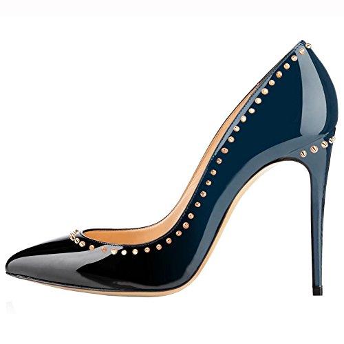 MERUMOTE - Punta fina Mujer azul y negro