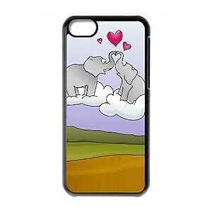 XiFu*MeiOkaycosama Funny iphone 6 plua 5.5 inch Cases Elephant and Heart for Guys Design, Cute iphone 6 plua 5.5 inch Cases for Teen Girls,XiFu*Mei