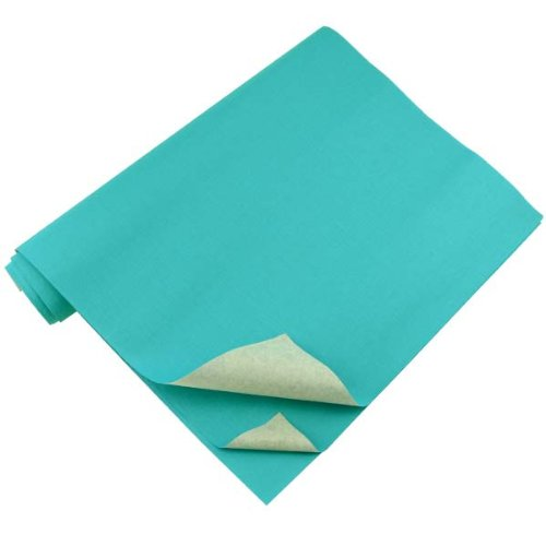 Lineco Book Cloth with Acid-Free Paper Backing, 17 X 38 inches, Turquoise, Package of 3 (BBHM127LPK)