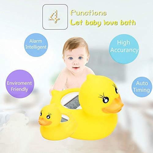 Term/ómetro de ba/ño para beb/és Pato amarillo Term/ómetro digital para habitaciones