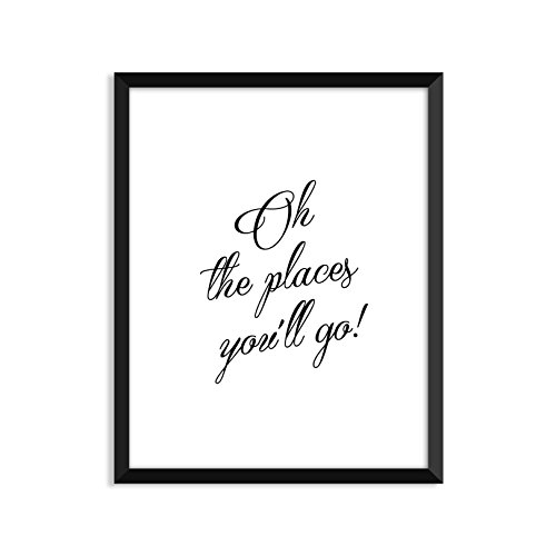[Oh The Places You'll Go, Nursery Art Print, Minimalist Poster, Home Decor, College Dorm Room Decorations, Wall Art] (Youll Large Poster)