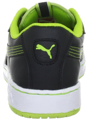 Puma - Zapatillas infantil, tamaño 38,5 UK, color negro-vibran Black-Lime P (Black-Lime P)