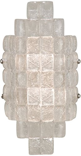 Fine Art Lamps 840650, Constructivism Glass Wall Sconce Light, 2 Light, 40 Watts, Silver Leaf by Fine Art Lamps