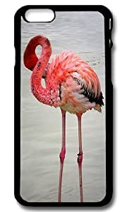 Rugged iPhone 6 Case,Pink Flamingo Custom Case Cover for Apple iPhone 6 4.7inch Polycarbonate Black