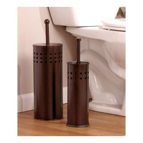 Toilet Brush Holder & Plunger Set. Stainless Steel or Bronze Set. Perfect Cleaning Set Bathrooms. Perfect Gift for House Warming Gift or College Dorms. Toilet Bowl Brushes & Plungers Are a Necessity for Any Household Bathroom. Critical Household Essential Supplies (Bronze)
