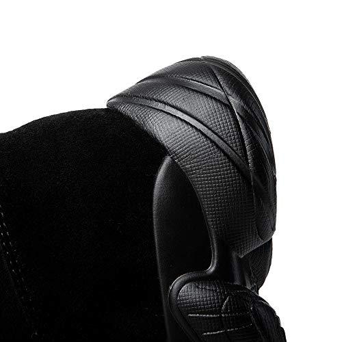Nero Sneaker Elasticizzato Stretch Autunno 20 Al Donna Taglia Stivale Ginocchio Stivali Zip Sopra Ginli qTxAOng7wp