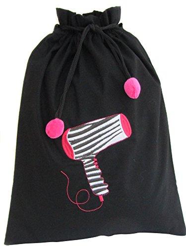 (Zazendi Travel Hair Dryer Bag Zebra Design/Organizing heat resistant bag, Black, One Size)