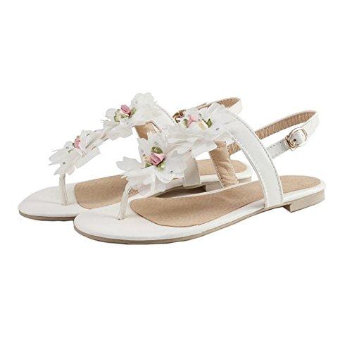 White Flats Sandals Clip Women Coolcept Toe w0g610q
