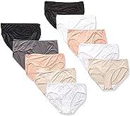 Hanes Womens Cool Comfort Microfiber Hipster 10-Pack Hipster Panties