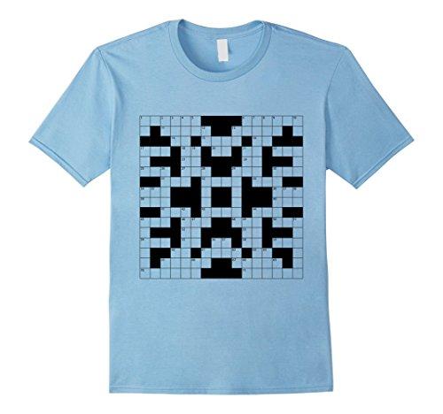 Crossword Puzzle Halloween Costume (Mens Crossword Puzzle Costume Halloween Shirts 3XL Baby Blue)