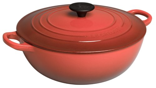 Le Creuset Enameled Cast-Iron 4-1/4-Quart Soup Pot with Cover, Red