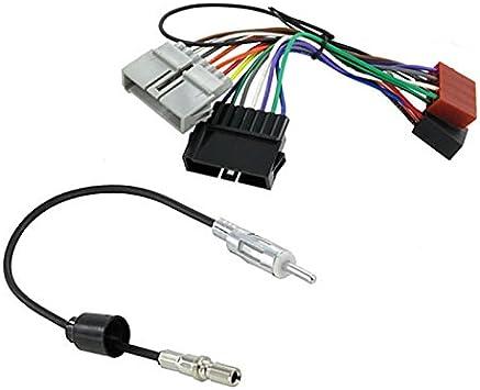 Sound-way Cable Adaptador Conector ISO y Antena para Autoradio compatible con CHRYSLER, JEEP, DODGE