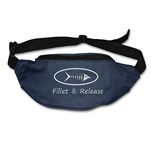Ada Kitto Fillet And Release Mens&Womens Sport Style Travel Waist Bag For Running And Cycling Navy One Size by Ada Kitto