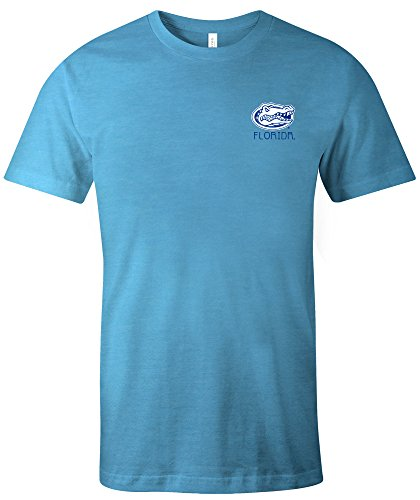 NCAA Florida Gators Adult NCAA Aztec Square Short sleeve Triblend T-Shirt,XL,Aqua (Florida Gators Square)