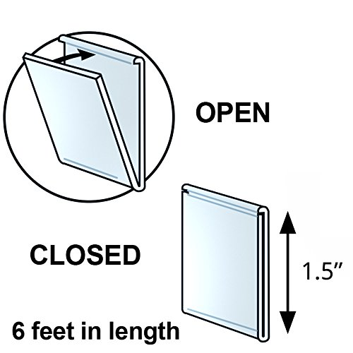 Pack of 5 New Retails Clear U-Channel 6-Foot Length 1.5''H x 72''L