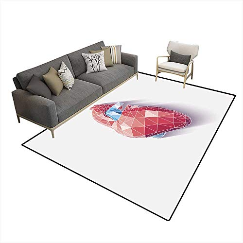 (Area Rugs for Bedroom Heart Poly)