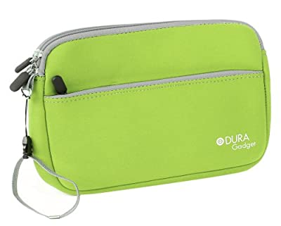 DURAGADGET Seagate Personal Cloud (STCR3000200, 3TB) / Seagate Personal Cloud (STCR4000200, 4TB) Case - Lime Green Neoprene Zipped Pouch With Front Storage Compartment For Seagate Personal Cloud HDD's