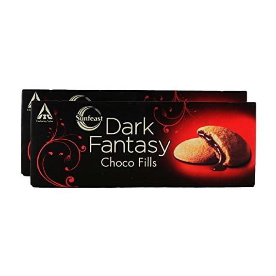 Sunfeast Dark Fantasy Choco Fills, 75g (Pack of 2) Promo Pack