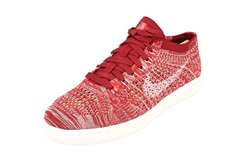 (Nike Womens Tennis Classic Ultra Flyknit Running Trainers 833860 Sneakers Shoes (US 8.5, Team red White 600))