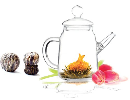 Premium Flowering Tea Solo Gift Set including Teapot Solo and 1 Pack of Premi...
