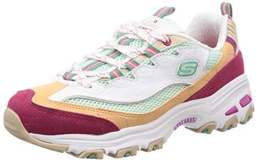 Skechers Womens D'Lites - Second Chance White Multi Sneaker - ()