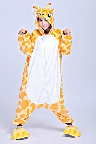 Pigiama giraffa pile Cosplay motivo unisex Onesie costume a in RUR7qywrC