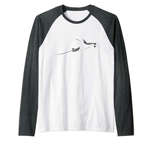 Manta Ray Scuba Diver and Ocean Lover Gift  Raglan Baseball Tee