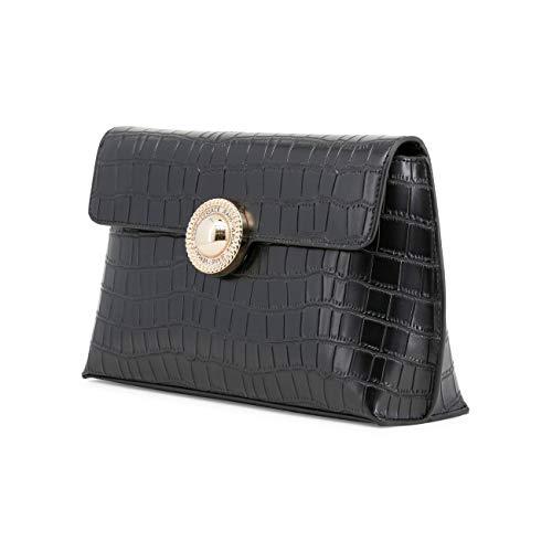 Jeans Clutch Designer Women Bag Black Clutch Women Versace Genuine Bag CUOpqP