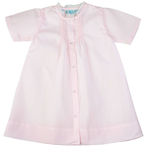 Feltman Brothers Newborn Girls Pink Take Home Day Gown with Lace Trim (NB)