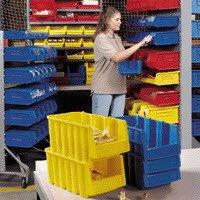 Akro-Mills 30235SCLAR Storage Bin Semi-Clear 11x11x5 - Cabinet Akro Clear Mills