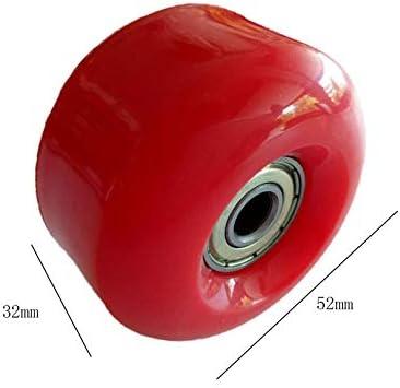 52mmx32mm Light Green Skateboard Wheel with Bearing Set of 4